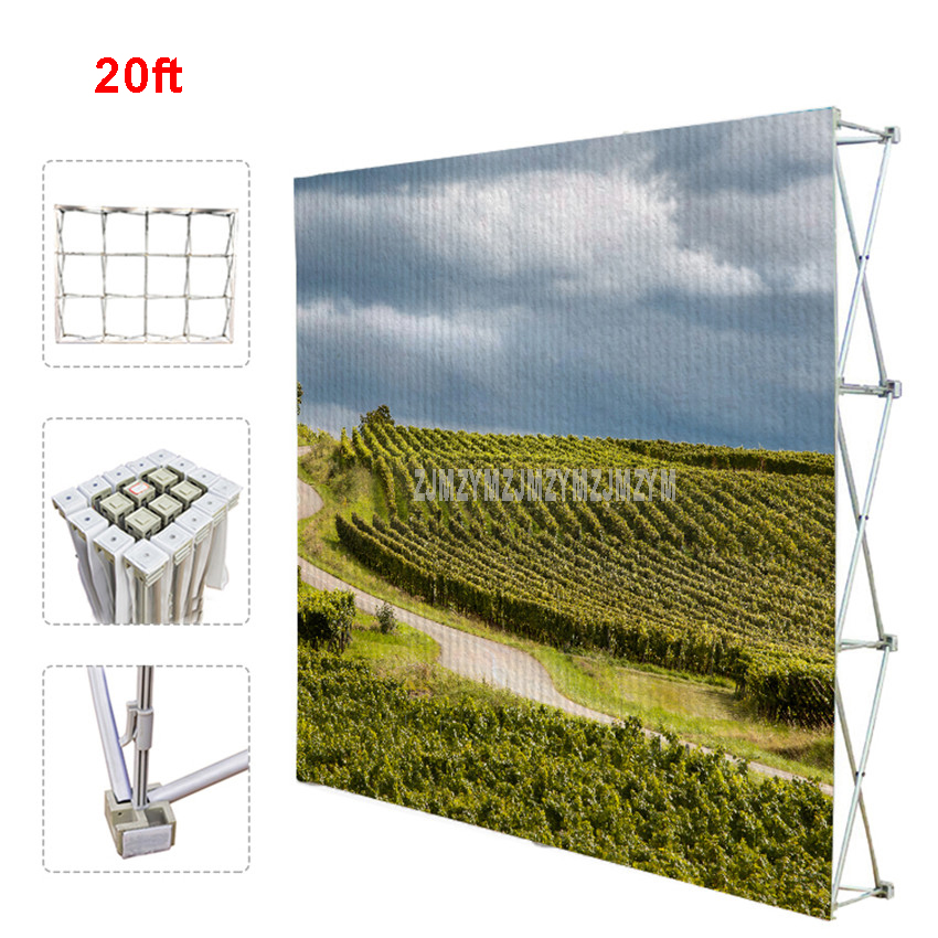 20ft Poster Retractable Backdrop Display Stand Tradeshow Wall Media Wedding Party Tension Fabric Banner Exhibition Booth бытовая химия wellery гель для стирки черных тканей 5000 мл