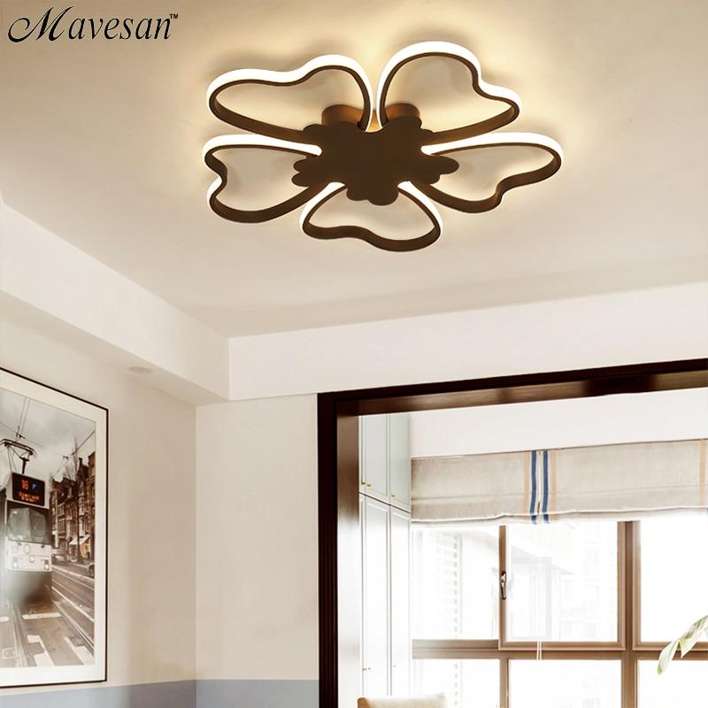 Neue Ankunft Moderne Led-deckenleuchten Für Wohnzimmer Schlafzimmer Esszimmer Studie Raum Weiß/kaffee Farbe Decke Lampe Leuchten Licht & Beleuchtung