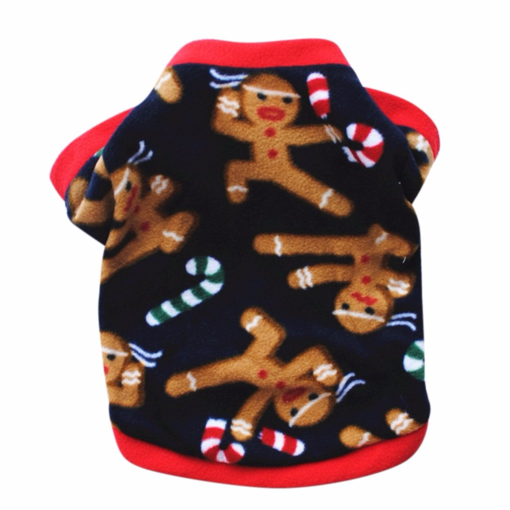 Winter Pet Coat Christmas Dog Warm Sweater Cotton Costume Small  Cat Pet Clothing Puppy Jacket Apparel Warm Pullover For Puppy