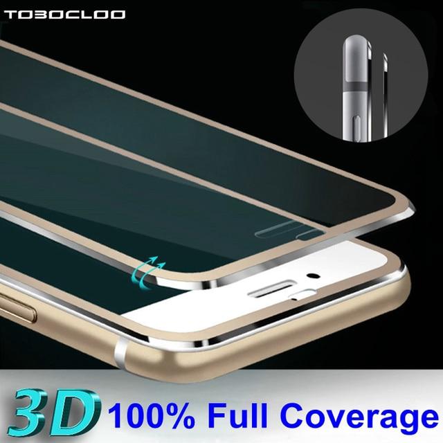 Tobocloo для iPhone 5 5S SE 5C 6 6 S 7 4.7 дюймов Ясно Передняя Экран протектор Закаленное Стекло полный крышка 3D край защитный Плёнки