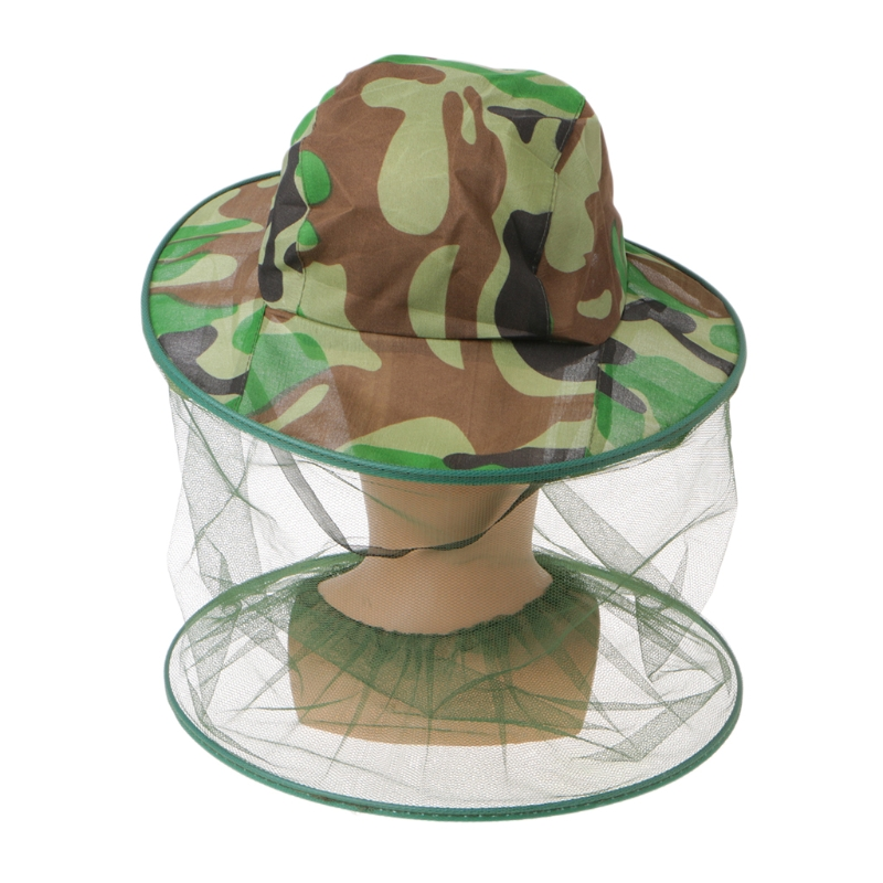 Mesh Face Mask Hat Keeping Insects Bee Flying Face-Protector Beekeeper Fishing