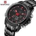 Top Luxus Marke NAVIFORCE Männer Wasserdichte Sport Militär Uhren männer Quarz Analog Digital Armbanduhr relogio masculino auf