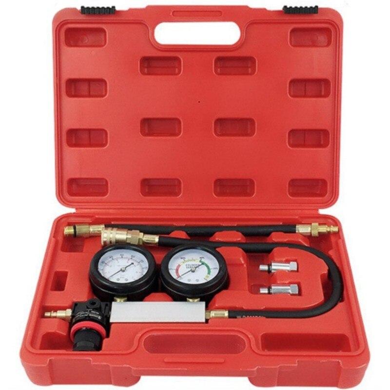 Dual Manometer Diagnose Kit Auto Motor Zylinder Leckage Tester Doppel Gauge System Bei Kompression Gasleckdetektor