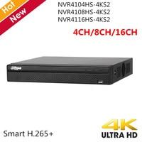 Dahua English Version 4k 4CH 8CH 16CH NVR Recorder NVR4104HS 4KS2 NVR4108HS 4KS2 NVR4116HS 4KS2 H.265 H.264 Up to 8MP Playback