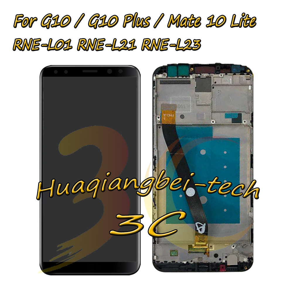 Full LCD DIsplay+Touch Screen Digitizer Assembly With Frame For Huawei G10 / G10 Plus / Mate 10 Lite RNE-L01/L02/L03/L21/L22/L23Full LCD DIsplay+Touch Screen Digitizer Assembly With Frame For Huawei G10 / G10 Plus / Mate 10 Lite RNE-L01/L02/L03/L21/L22/L23
