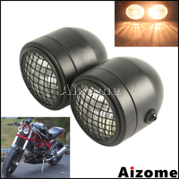Motocykl kratka reflektor reflektor Dominator dla Harley Honda Triumph Scrambler Chopper niestandardowy motocykl podwójny podwójny reflektor na