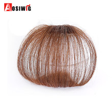 AOSIWIG Short Synthetic Bangs Heat Resistant Synthetic Hair for Women Natural Fake Hair Bangs Women Hair Pieces(China)
