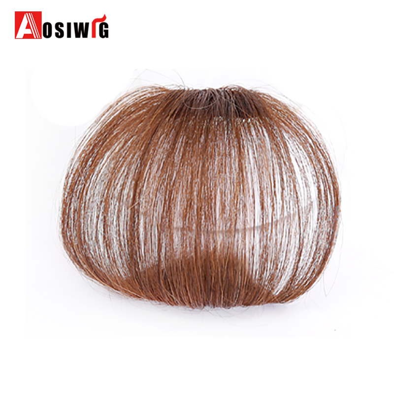 AOSIWIG Short Synthetic Bangs Heat Resistant Synthetic Hair s