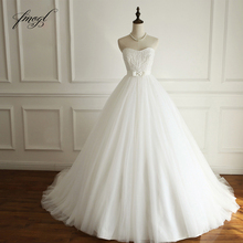 Fmogl Robe De Mariee Strapless Boho Wedding Dresses 2019