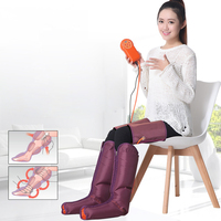 Air Compression Leg Massager Electric Heat Foot Calf Thigh Blood Circulation Slimming Massage with Remote Controller