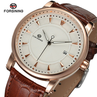 FORSINING Men's New Design Antique Automatic Movement Steampunk Quality Wrist Watch With Leather Strap Factory Price FSG8051M3R1