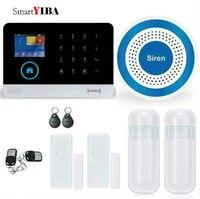 SmartYIBA приложение управление 3G Wi Fi GPRS SMS Главная охранной сигнализации системы + двери проводной рупор сирена движения PIR сенсор детектор