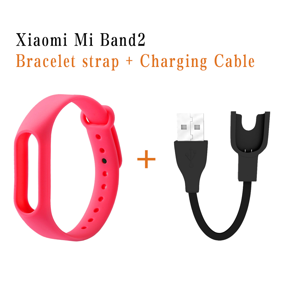 Smart Straps For Mi Band 2 Strap Charging Cable Usb Charger For Xiaomi Mi Band 2 Strap Bracelet Pulseira For Mi Band 2 1pc usb charging cable charger dock station for huawei watch 2 smart watch 1m desktop charger cradle cable for huawei watch 2