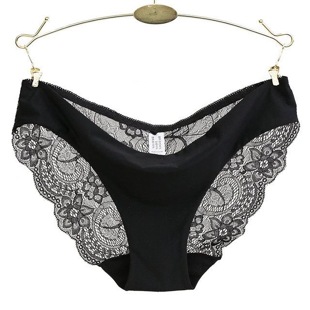 sexy fancy lace crotch cotton panties