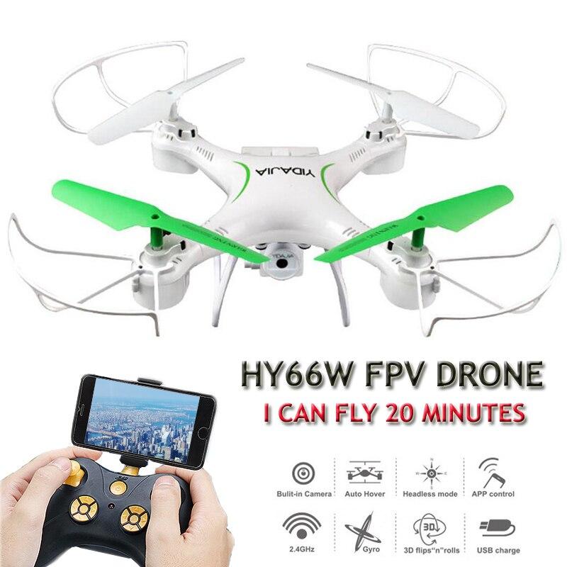 HY66W Eders 20 Minuten Fliegen Selfie Drohne mit Kamera HD Quadrocopter FPV Quadcopters mit Kamera Rc Hubschrauber Spielzeug für Childre