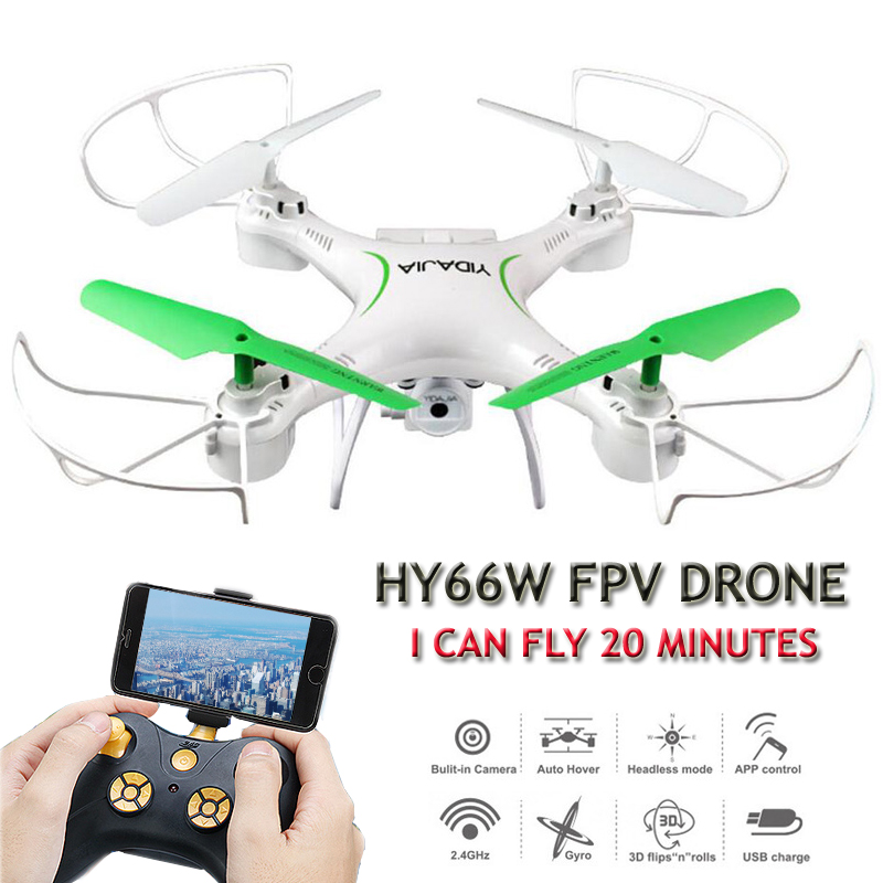 HY66W Quadrocopter Drones With Camera HD Dron 20 Minutes Flying Time FPV Drones Quadcopters With Camera RC Helicopter Toys