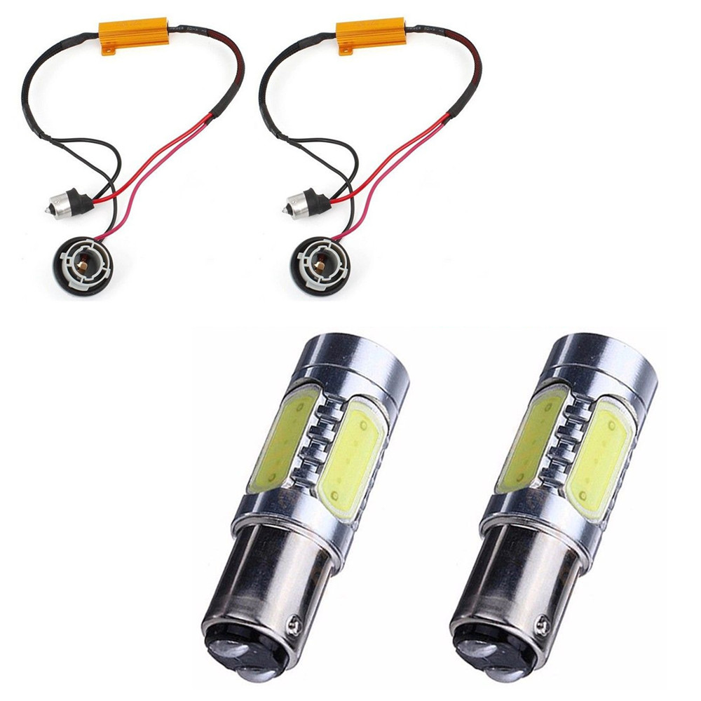 CYAN SOIL BAY 2X 1157 BAY15D P21/5W 7.5W COB LED Fog Light Bulb Lamp For Audi BMW Benz OBC Car Load Resistor Red Blue Amber Pink 2pcs 12v 31mm 36mm 39mm 41mm canbus led auto festoon light error free interior doom lamp car styling for volvo bmw audi benz