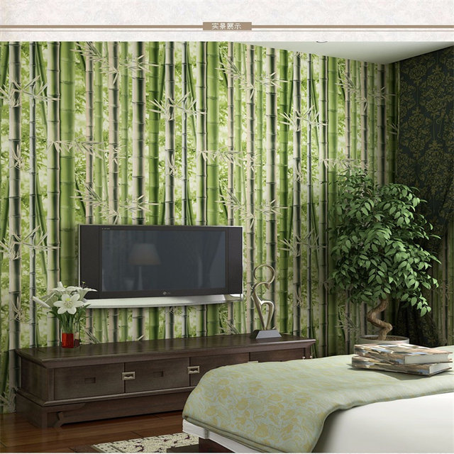 Beibehang Moderne garten frische warme wohnzimmer schlafzimmer ...