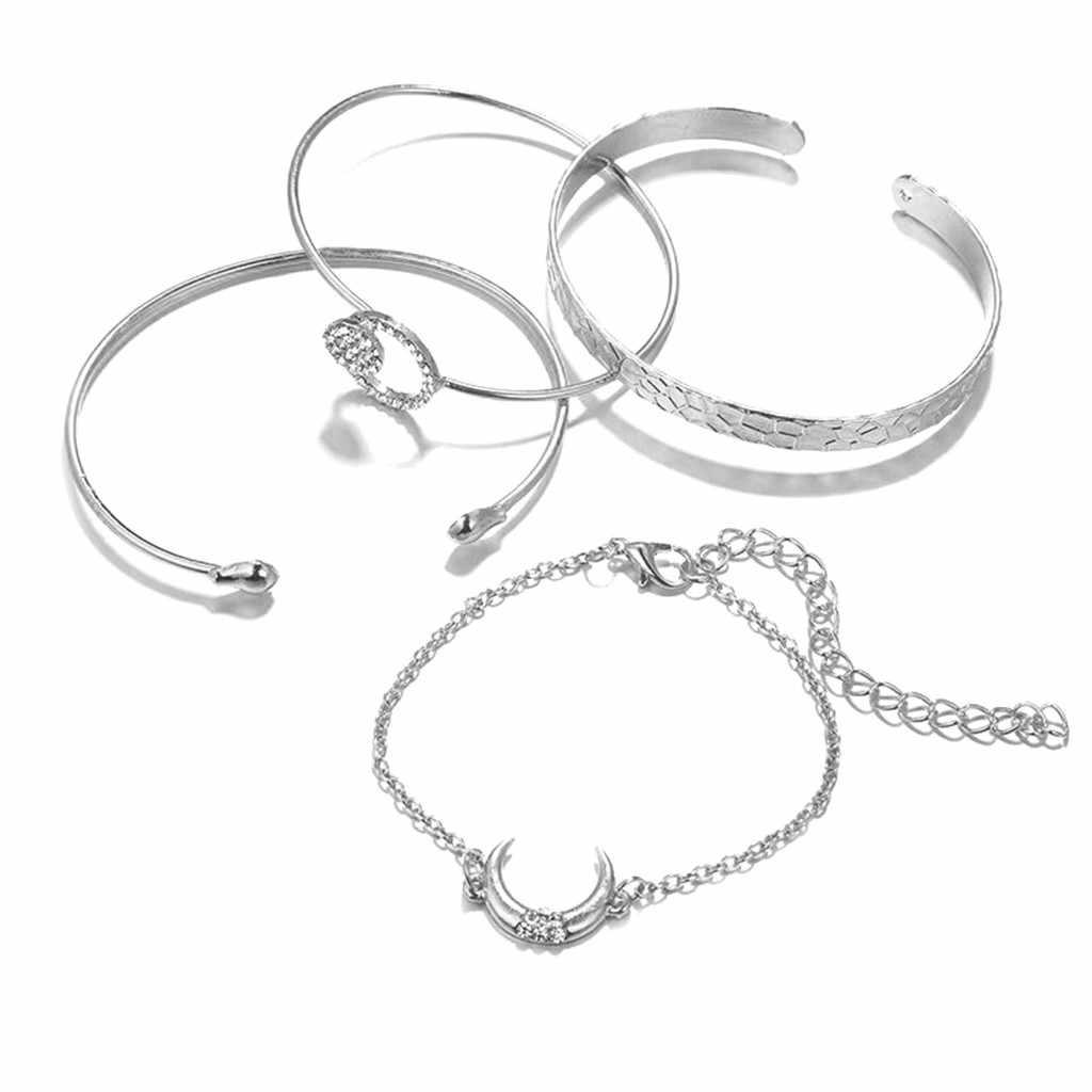 Elegante varias capas elegante colgante femenino joyería de las señoras pulsera de aleación multi capa pulseras para las mujeres pulseira masculina