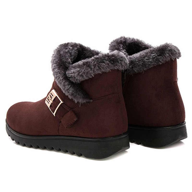 2019 Moda Kar Botları Bayan Botları Sıcak Kürk Kadın yarım çizmeler Kadın Kışlık Botlar Kış Ayakkabı Kadın Ayakkabı Bota Kadın Patik