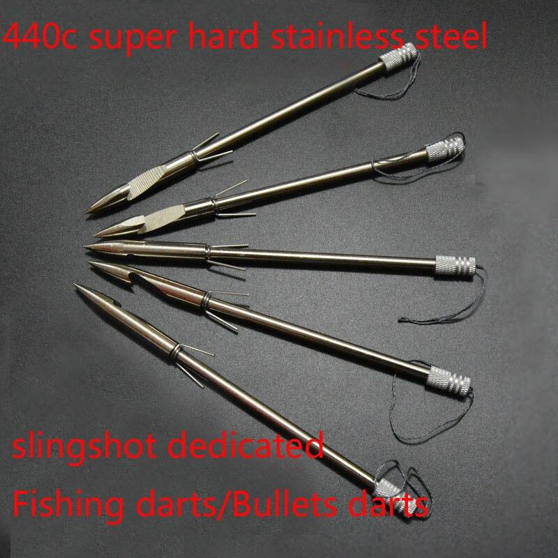 100 pièces acier inoxydable fronde flèche tête têtes larges arc tir poisson fronde pêche chasse pointes de flèche