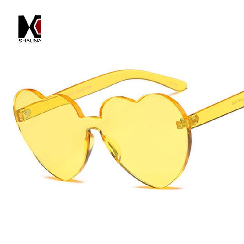 eff36b79b8036 ... SHAUNA Oversize Cute Candy Color Women Heart Sharp Sunglasses Fashion Thick  Lens Shades UV400
