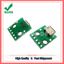 Micro usb to dip_ mother seat B type _ patch to straighten _USB adapter board _ has been welding mother module(China)