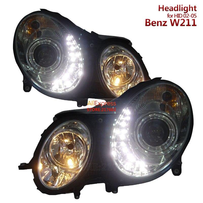 для Мерседес-Бенц e-класс оригинальный ксенон W211 Мерседес Е63 E280 Е230 Е350 Е500 светодиодный проектор фары 2002-2005 тюнинг фар