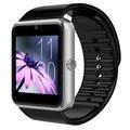 Sincronização do relógio smart watch gt08 notificador conectividade bluetooth android ios smartwatch com slot para cartão sim de telefone para apple iphone