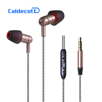 Caldecott KDK 202 Metal Headphone With Mic Bass Stereo Earphone Volume Control Music Earphone For IPhone