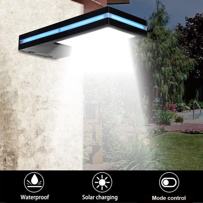 144 LED Солнечная энергия датчик движения садовая охранная лампа Открытый водонепроницаемый свет портико лампа садовые огни-in Светодиодные солнечные лампы from Лампы и освещение
