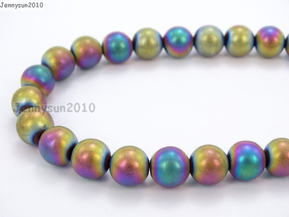 Beads & Jewelry Making Natural Matte Multi-colored Hematite 8mm Frosted Gems Stones Round Ball Loose Spacer Beads 15 5 Strands/ Pack Agreeable Sweetness Back To Search Resultsjewelry & Accessories