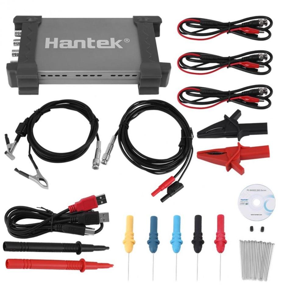 Hantek 6074BE 4 Channels 70Mhz Bandwidth Automotive Osiclloscope Digital USB Portrail Osciloscopio Diagnostic tool