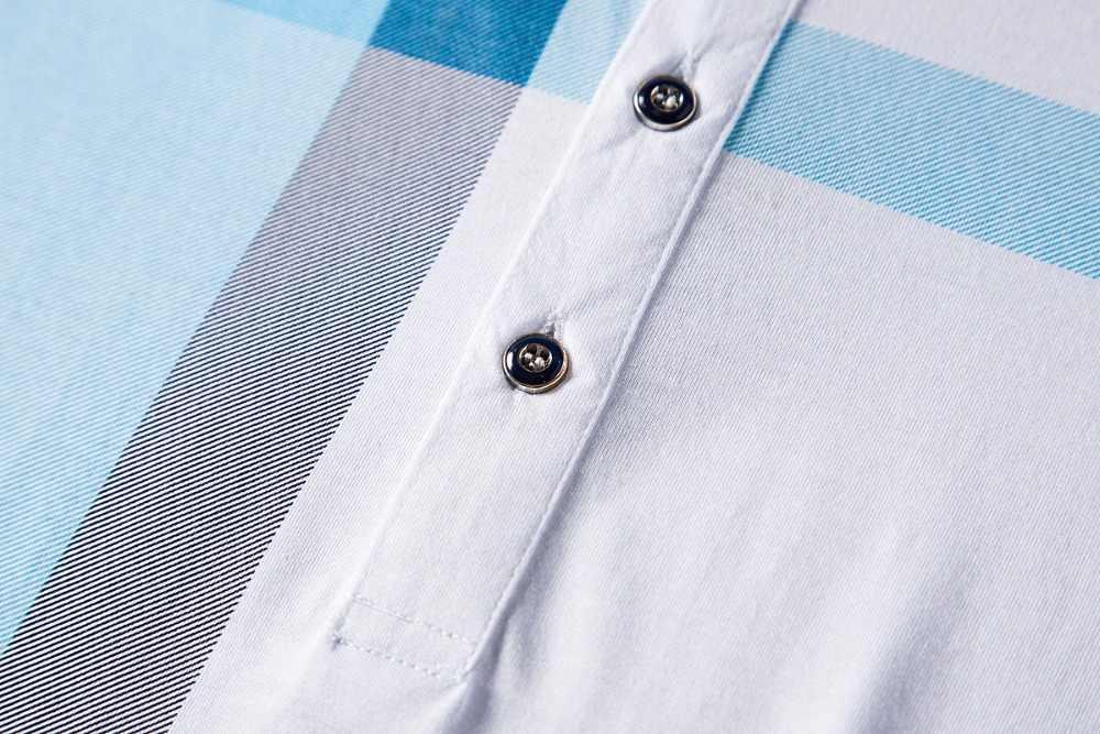 Новое поступление 2018; брендовые одежда/рубашка-поло человек хлопка в клетку с короткими рукавами дышащие деловые повседневные homme camisa Большие размеры XXXL