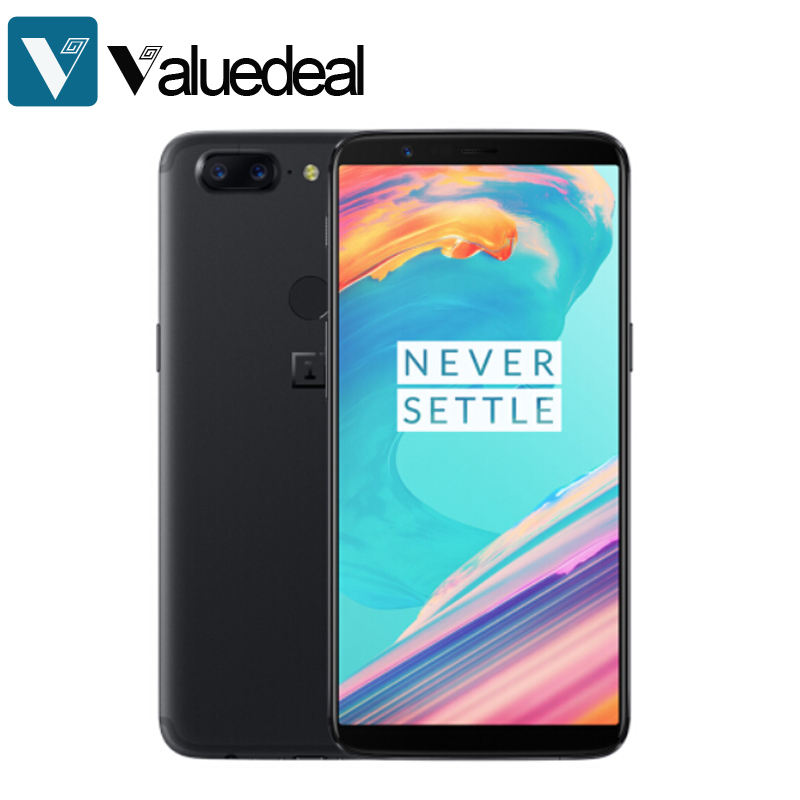 Original OnePlus 5T 6.01 Inch 18:9 FHD+ 4G LTE Smartphone 6GB 64GB 20.0MP for Qualcomm Snapdragon 835 Octa Core OxygenOS phone