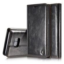 Роскошные Coque для откидная крышка для Samsung S serial сумка натуральная Пояса из натуральной кожи кошелек caseme Марка телефона чехол для Note5 S7edge Ретро