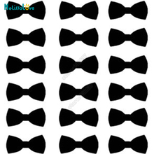 48/set Bow Tie Sticker Party Cup Decal Invitation Seal Boy Gender Nursery Baby Boy Shower Removable Vinyl Wall Stickers B383