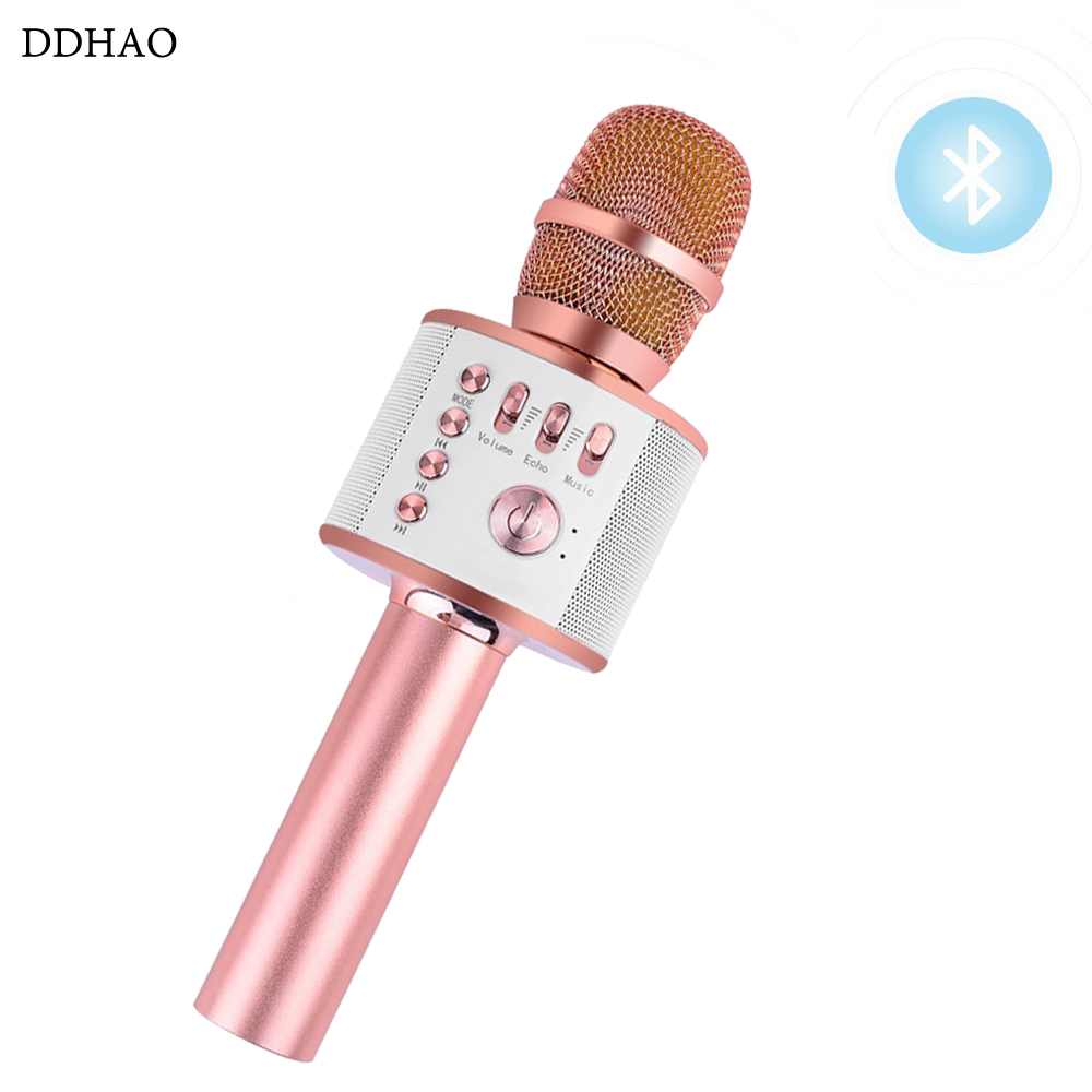 Mikrofone Unterhaltungselektronik Hause Karaoke Unterhaltung Mikrofon Tragbare Wireless Bluetooth Lautsprecher Karaoke Mikrofon Mic Player Für Telefon K088 GroßE Auswahl;