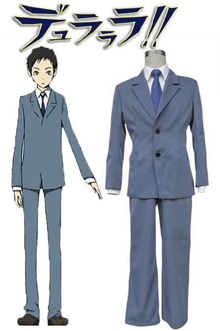 Free Shipping DuRaRaRa Raira Academy Boys School Uniform Anime Cosplay Costume