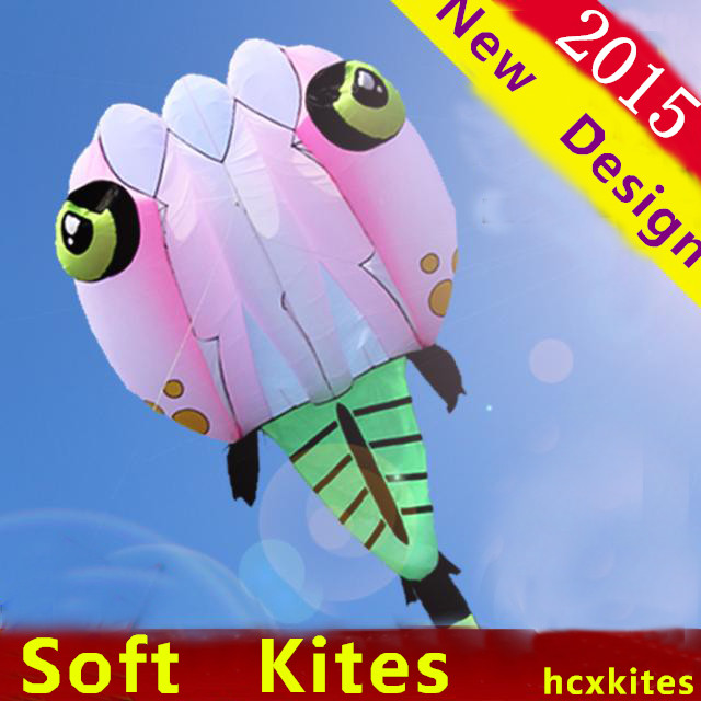 free shipping new design 5.6m tadpole soft kite with line ripstop nylon fabric kite weifang festival hcxkite factory large kite