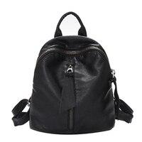 2016 Fashion Women PU Leather Backpack Preppy Style Rucksack Schoolbag For Teenage Girls Lady Shoulder Backpack