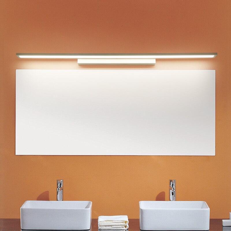 Morden Anti-fog Waterproof Acrylic Mirror Light LED Bathroom Wall Lamp Brief Indoor Lighting Fixtures Sconce for Home Bed 40cm 12w acryl aluminum led wall lamp mirror light for bathroom aisle living room waterproof anti fog mirror lamps 2131