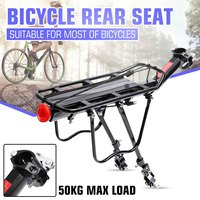 Bicycle Mountain Bike Carrier Cargo Rear Rack Shelf Bicycle Luggage Rack Can Load 50kg Cycling Accessories