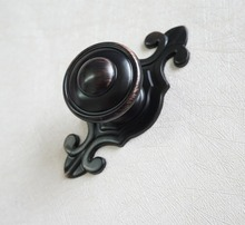 Drawer Knobs Dresser Knob Pulls Handles / Dark Oiled Red Bronze Retro Kitchen  Door Pull Back Plate Vintage Antique Style