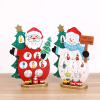 Creative Wooden Snowman Santa Artificial Christmas Tree Christmas Decorations For Home Handmade DIY Festival Home Party