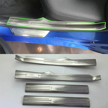 Car Accessories Interior Stainless Steel Inner Door Sill Scuff Threshold Plate Cover Trim For BMW 3 Series 2017 цена