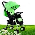 Verano transpirable bebé carro puede sentarse y acostarse ultra portátil plegable pequeña silla de ruedas