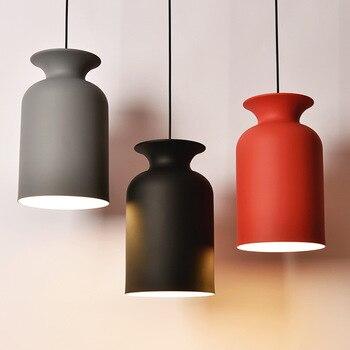 Post moderne macarons hanglampen moderne eenvoudige ijzeren Art eetkamer woonkamer melkachtige thee winkel E27 lamp LED verlichting armatuur