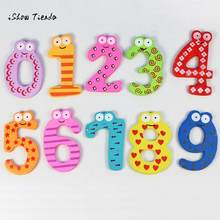 ISHOWTIENDA Vovotrade New 1 Set (0-9 number) Magnetic Wooden Numbers Math Set for Kids Children Preschool Home School Daycare(China)