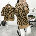 Mother Daughter clothes sweater Christmas Autumn Winter leopard Girls Dress Family Look Matching mother and daughter clothes